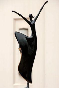 Freude am Tanz - Beautiful Woman Quotes Sculptures Céramiques, Art Sculpture, Abstract Sculpture, Metal Art, Wood Art, Dance Art, Art Object, Ceramic Art, Art Dolls