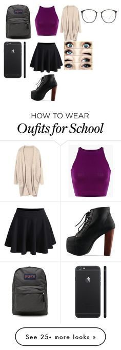 """School"" by sorry-im-me on Polyvore featuring moda, JanSport e Linda Farrow"