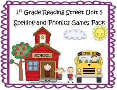 What a fun and engaging way to practice the spelling and phonics patterns from Reading Street Basal Series Unit 5! This pack includes 7 games that ...