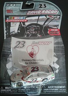 David Ragan 23 Shriners Hospitals for Children Paint Scheme 164 Scale Diecast Lionel NASCAR Authentics with Matching Hood -- Learn more by visiting the image link.Note:It is affiliate link to Amazon.