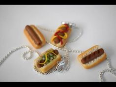 Miniature Hot Dog Tutorial, Polymer Clay Hot Dog Tutorial - YouTube