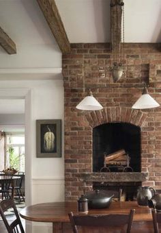 New Absolutely Free Brick Fireplace tile Popular Best Images Brick Fireplace kitchen Suggestions Unique Wall Fireplace With Red Brick 17 Fireplace Hearth, Fireplace Design, Fireplace Ideas, Fireplace Kitchen, Rumford Fireplace, Exposed Brick Fireplaces, Brick Hearth, Fireplace Stone, Mantle Ideas