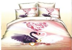 Lenjerie 3D Bumbac Satinat - 4 Piese - Pat 2 Persoane Comforters, Satin, Blanket, Bed, Furniture, Home Decor, Creature Comforts, Quilts, Decoration Home
