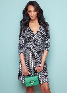 46cfd3f97a3d0 Black Geo Print Maternity/Nursing Wrap Dress by Seraphine Summer Maternity  Fashion, Pregnancy Fashion