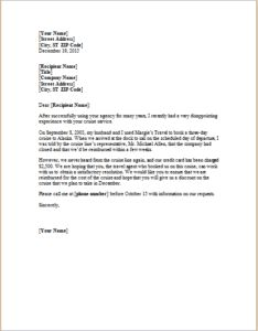 Complaint letter about cancelled trip DOWNLOAD at http://www.templateinn.com/11-complaint-letters-to-do-all-jobs/