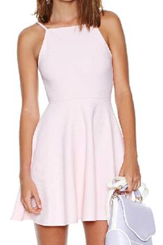 abaday Backless High Waist Sheer Pink Dress - Fashion Clothing, Latest Street Fashion At Abaday.com