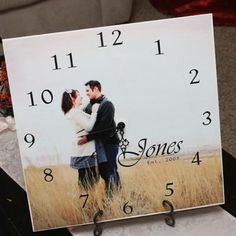 Personalized Picture Clock {Clocks}