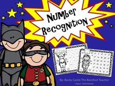 There are forty fabulous number and number word recognition practice sheets in this download. All with a variety of superhero pictures on them that will appeal to both boys and girls. These sheets practice numbers 1-20. $