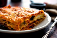 Lasagna With Tomato Sauce and Roasted Eggplant: View this and hundreds of other vegetarian recipes in the Eat Well Recipe Finder. Tomato Pie, Tomato Sauce, Baked Lasagna, Cooking Lasagna, Healthy Lasagna, Meat Lasagna, Lasagna Noodles, Vegetarian Recipes, Cooking Recipes