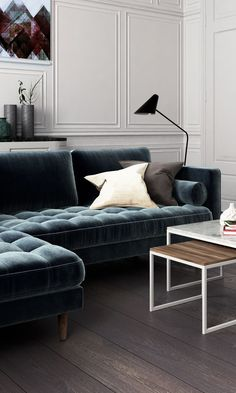 cool Déco Salon - A sophisticated home featuring the Luca Sectional in Vintage Velvet Solstice...