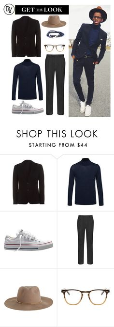 """Lean On... Dude"" by dappervigilante ❤ liked on Polyvore featuring HOLLAND ESQUIRE, Acne Studios, Converse, M&S Collection, Zimmermann and Garrett Leight"