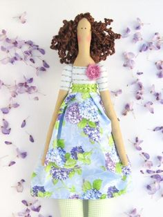 Fabric doll Tilda handmade cloth doll stuffed by HappyDollsByLesya