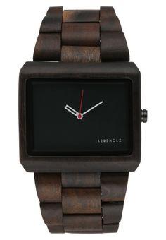 Acheter Montre en Bois – KERBHOLZ Reineke – Design original – montre homme bois foncé