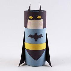 Cardboard Tube Batman - Fun Family Crafts