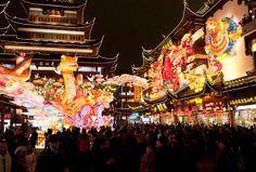 Shanghai's best-known Chinese New Year celebration is the Lantern Festival parade at Yuyuan Garden.