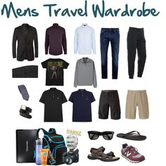 Mens Travel Wardrobe by mimmy-05 on Polyvore featuring Gucci, Emporio Armani, The North Face, New Balance, Ray-Ban, Polo Ralph Lauren, Givenchy, Armani Jeans, River Island and Kiss My Face