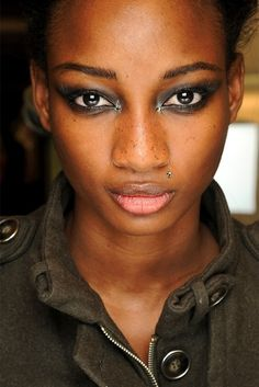 ~9 Steps for Creating a Perfect Smoky Eye Look~ #4) The Final Touch: Next apply a lighter shadow in a neutral tone with a larger eye shadow brush, I like to use the wet/dry brush.  Encircling the entire eye area, be sure to soften and graduate outward for that perfect blended look.
