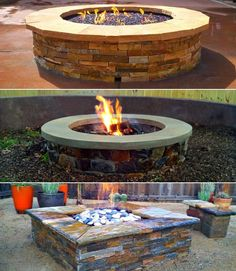 A few of our custom fire pits by The Sustainable Yard.