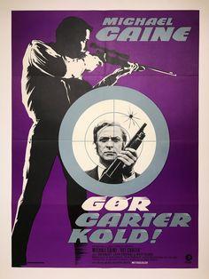 'Get Carter' Danish poster by John Stevenov