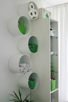 You can also affix the PVC tubes to the wall as neat hanging racks.