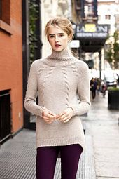 Ravelry: #13 Cabled Turtleneck pattern by Vanessa Putt
