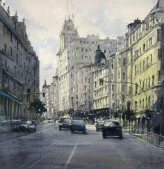 Gran Vía  Acuarela/Watercolor/Daniel Smith Colors
