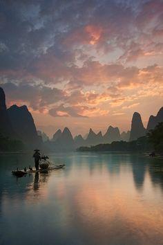 Li River Sunrise - Guangxi Zhuang, China
