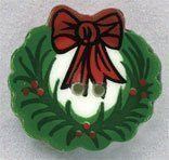 Wreath Button by Mill Hill. $2.99. Wreath Button