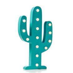 Adairs Kids Timber LED Light Cactus, night light, kids light