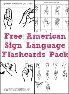 This week's freebie on Just Another Mom is a free ASL flashcards pack. Includes alphabet, numbers, and a few signs.