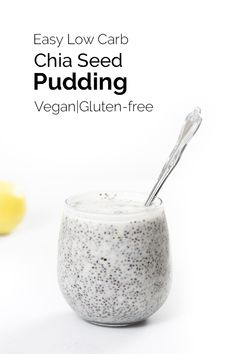 YUMMY!!! Vegan Chia Seed Pudding! A healthy breakfast with only 3.9 net carbs! #vegan #glutenfree #plantbased #bearplate #veganbreakfast