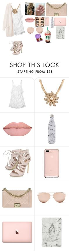 """""""College"""" by babyceeee ❤ liked on Polyvore featuring Stone_Cold_Fox, Chanel, S'well, Carvela, Linda Farrow, Agent 18 and Yumbox"""