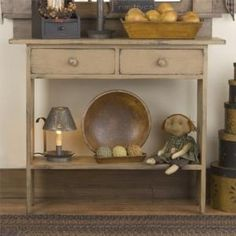 RUSTIC COUNTRY PRIMITIVE HAND CRAFTED FOYER HALL TABLE WITH DRAWERS | JoyAndJoshua - Furniture on ArtFire