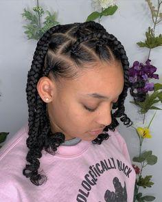 hairstyles baddie braids - hairstyles baddie - hairstyles baddie for school - hairstyles baddie straight - hairstyles baddie curls - hairstyles baddie latina - hairstyles baddie short - hairstyles baddie braids Protective Hairstyles For Natural Hair, Natural Hair Braids, Natural Hairstyles For Kids, Braids For Black Hair, Girl Hair Braids, Twist On Natural Hair, African American Natural Hairstyles, African Hairstyles For Kids, Natural Protective Styles