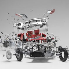 Disintegrating: Exploded Sports Cars…. Insane in the Membrane!!!