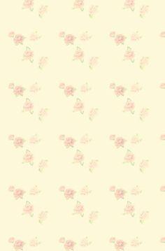 Cream, pastel, flowers