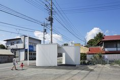 Image 9 of 28 from gallery of Public Bathrooms: Examples in Plan and Section. via Kubo Tsushima Architects Public Architecture, Japanese Architecture, Contemporary Architecture, Landscape Architecture, Fashion Architecture, Modern Contemporary, Washroom Design, Toilet Design, Gunma