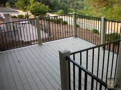 Composite Deck with Iron Railing