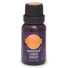 Mandarin Lemon Ginger Natural Oil - The Candle Boutique - Scentsy UK Consultant Scentsy Essential Oils, Scentsy Oils, Scentsy Diffuser, Aroma Diffuser, Essential Oil Diffuser, Ginger Essential Oil, Natural Essential Oils, Essential Oil Blends, Natural Oils