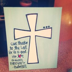 Cross canvas