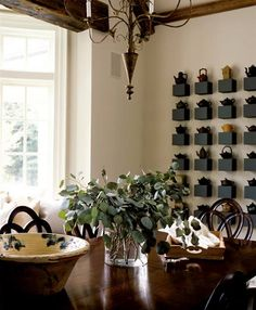 #Diningroom #Storage #Decoration Love the tea pots wall