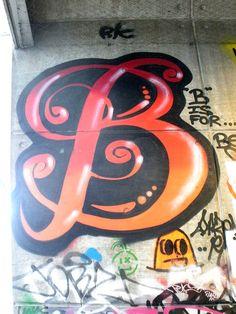 cool graffiti letter b