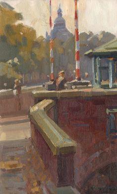 Hans Versfelt, Brug met watertoren, Groningen