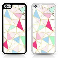 GEOMERTIC PATTERN PASTEL TRIANGLES PHONE CASE COVER FOR IPHONE SAMSUNG SONY