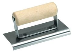 QLT By MARSHALLTOWN 7408W 6-Inch by 4-1//2-Inch Bronze Hand Groover with Wood Handle