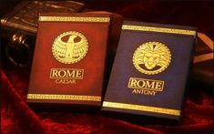 Hail Caesar!!! Rich and vibrant Playing Cards with an ANCIENT ROMAN theme. Julius Caesar, Mark Antony, Cleopatra...