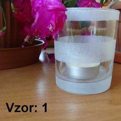 Svietnik sklenený mix vzorov - Sviečka - S čajovou sviečkou (plus 0,10€), Vzor - Vzor 1