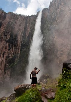 Basaseachi Falls in Chihuahua, Mexico. One of Mexico's tallest waterfalls.