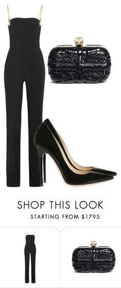 """""""Untitled #5265"""" by beatrizvilar on Polyvore featuring Antonio Berardi, Alexander McQueen and Jimmy Choo"""