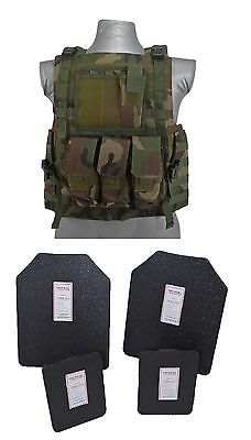 Tactical Scorpion Body Armor Bearcat Carrier Level IIIA Plates | Woodland  sc 1 st  Pinterest : body armor ceramic plates - Pezcame.Com